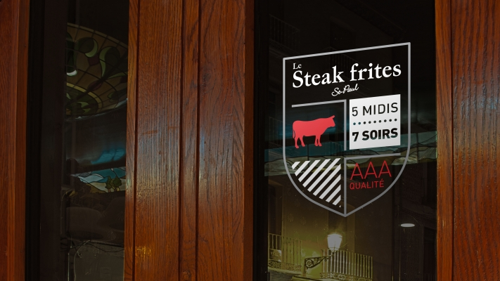Steak frites St-Paul - Ads lettering