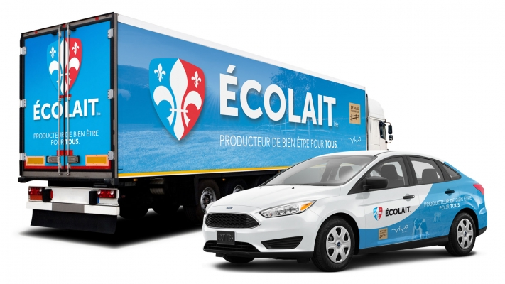 Trailer and car wrapping -  ÉCOLAIT
