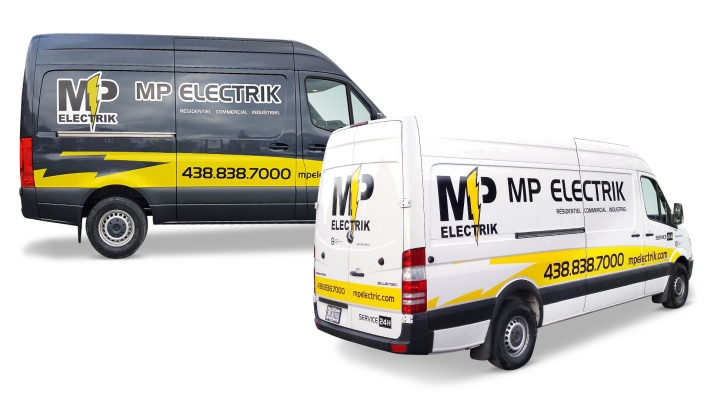 Truck wrapping and decal - MP Électrique