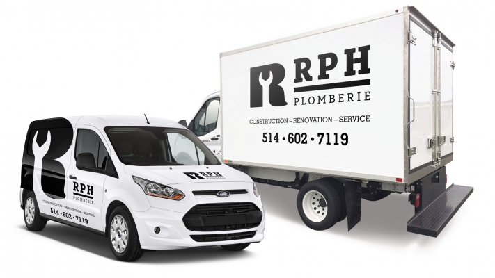 Truck wrapping and decal - RH Plomberie