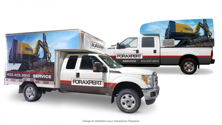 Truck wrapping and decal - Foraxpert