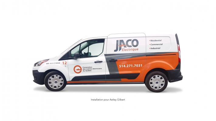 Truck wrapping and decal - Jaco Électrique
