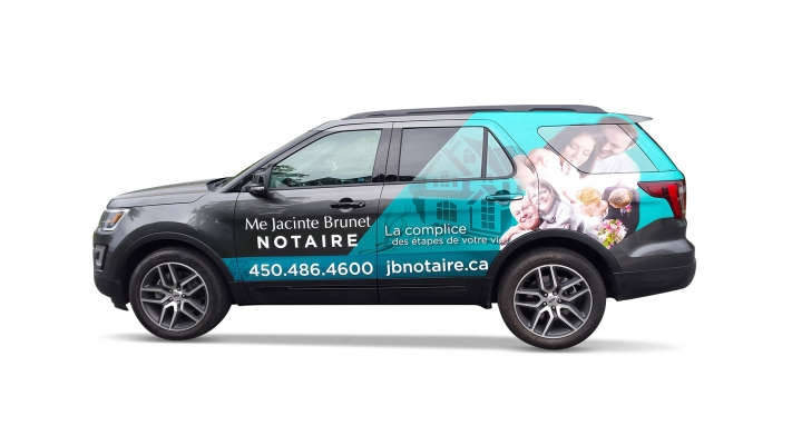 Car wrapping and decal - Notaire Me Jacinte Brunet