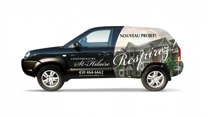 Car wrapping and decal - Condos Ste-Hilaires