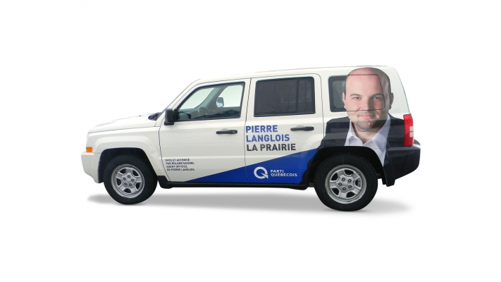 Car wrapping and decal - Parti Québécois