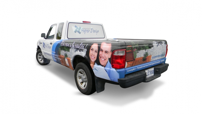 Car wrapping and decal - Paysagement Super Design